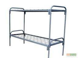 Кровать металлическая двухъярусная сетка прокатная пружина