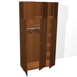 Шкаф для одежды трехстворчатый с антресолью из ДСП 16мм, кромка ПВХ 0,4мм