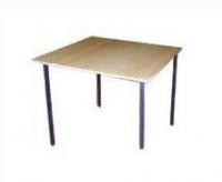 Стол пластиковый обеденный на металлокаркасе из ДСП 16 мм, кромка ПВХ 0,4мм