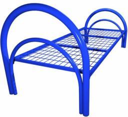 Кровать металлическая одноярусная усиленная сетка сварная 100х50мм (2 перемычки + двойная ножка)
