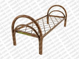Кровать металлическая одноярусная усиленная сетка прокатная пружина