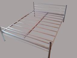 Двухспальная одноярусная металлическая кровать