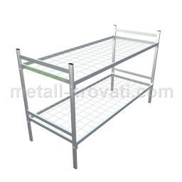 Кровать металлическая двухъярусная сетка сварная 100*100мм