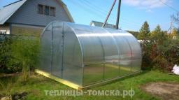 Теплица Мария Делюкс 4 х 3 м комплекте с поликарбонатом 4 мм