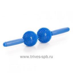 Мяч игольчатый с ручкой (2 больших мяча)