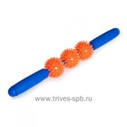 Мяч игольчатый с ручкой (3 маленьких мяча)