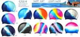 Шапочки для бассейна из силикона цветные