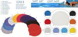 Шапочки для бассейна из силикона однотонные