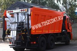 Дорожная машина КДМ-7881.01 (аналог ЭД-405В1) на базе самосвала КАМАЗ 6520