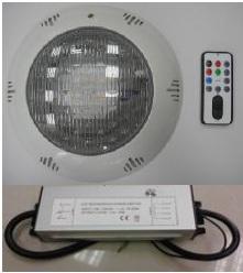 Подводный светильник RGB TLQP-LED12 /TLQP-LED15 POOL KING, Китай.