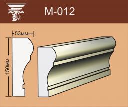 Фасадный декор из пенополистирола (пенопласта) Молдинг М 012