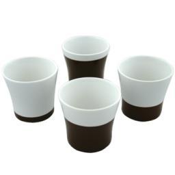 Набор чашек чайных TEO, 4шт. коричневые