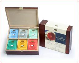 Деревянная коробка c чайными пакетиками Ronnefeldt