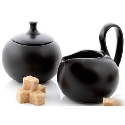 Сахарница и молочник Jasmin черный