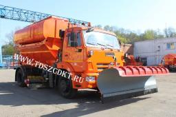 ЭД 244К на шасси КамАЗ 43253 с пескоразбрасывающим оборудованием