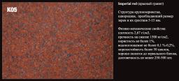 Порода камня К05 Imperial red (красный гранит).