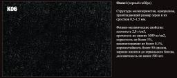 Порода камня К06 Shanxi (черный гранит).