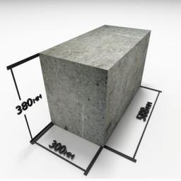 Блок из полистиролбетона (300х380х588мм) D500
