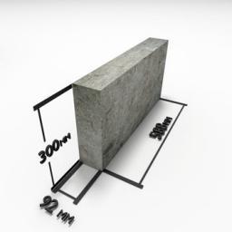 Блок из полистиролбетона перегородочный (92 х 300 х 588) D500