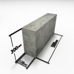 Блок из полистиролбетона перегородочный №4 (135 х 300 х 588) D 500
