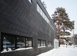 Декоративная чёрная плитка под кирпич