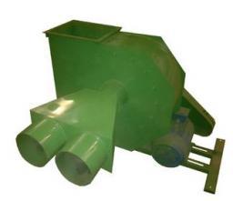 Пылевой вентилятор - № 6.3 с двумя раструбами для аспирации
