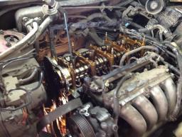 Замена натяжителя цепи Honda