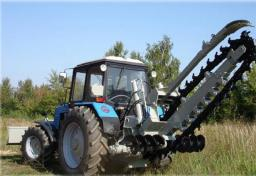Траншеекопатель на базе трактора МТЗ - Беларус (траншейный экскаватор)