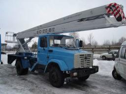 Аренда, услуги автовышки АГП 22 метра колено