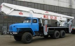 Аренда, услуги автовышки Урал 28 метров вездеход колено