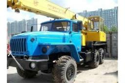 Аренда автокрана Урал 25 тонн 31 метр вездеход