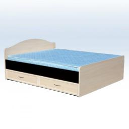 Кровать с ящиками  80см (венге/дуб беленый)