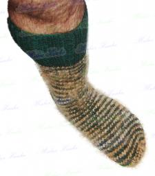 Носки «крокодильчик» спортивные ручного вязания .