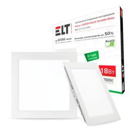 Светильник светодиодный LDLR02-24x24-18-4200-White, 18 Вт, 220 В, 4200 К ELT