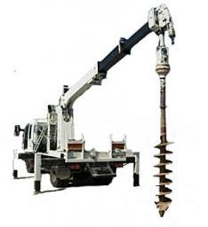 Аренда телескопического ямобура с выдвижной стрелой до 12 метров