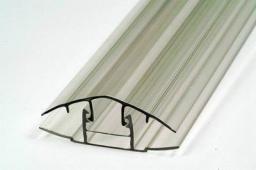Профиль соединительный разъемный крышка+база (для толщины 16 мм)