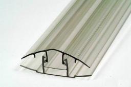 Профиль соединительный крышка+база (для толщины 8-10 мм)