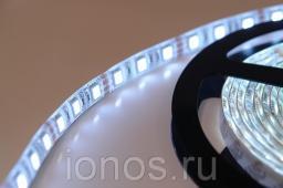 Светодиодная лента для внутреннего освещения, БЕЛАЯ. 60 светодиодов на метр, 4,8W на 1 метр, 12В, 3528.