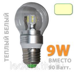 G50/9W 4500К, Прозрачная. Светодиодная лампа. Цоколь E27, 220Вт., 9Ватт, 700Лм., 360 градусов, 4500К, прозрач.