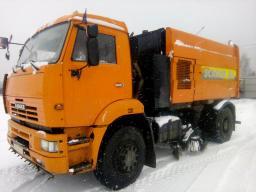 Вакуумная подметально уборочная машина и снегопогрузчик МКУ-7802 (Scarab M6) на шасси КАМАЗ-43253, 2013 года выпуска