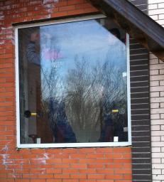 Противопожарное алюминиевое окно