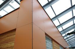 Фасадные панели hpl, пластик архитектурный декоративный для отделки фасадов, балконов, входных групп