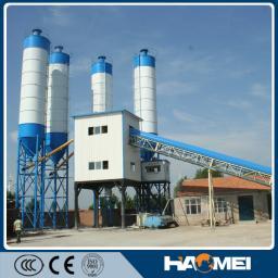 Бетонный завод, двухвальный смеситель, HZS120