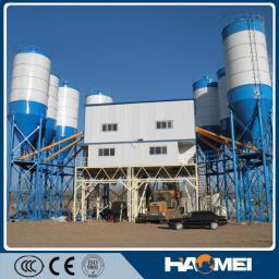 Бетонный завод, двухвальный смеситель, HZS180
