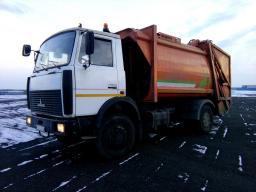 Мусоровоз с задней загрузкой кузова МКЗ-3402 на шасси МАЗ-5337А2, 2012 год выпуска. Пробег 70 000 км.