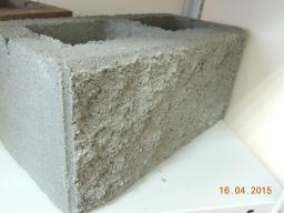 Блок стеновой рваный камень серый