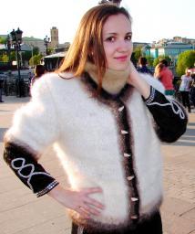 Жакет женский вязаный «Пушистая Аврора» .