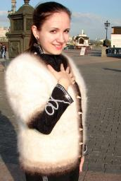 Жакет в стиле Шанель из собачьего пуха.