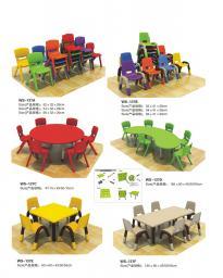 Детский пластмассовый стол и стул WS-137B 2350305