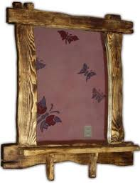 Зеркало в старинном дереве